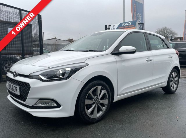 USED 2015 15 HYUNDAI I20 1.2 GDI SE DOOR WHITE 1 OWNER LOW TAX 2 KEYS BLUETOOTH CRUISE