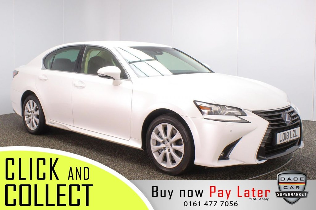 USED 2018 18 LEXUS GS 2.5 300H EXECUTIVE EDITION 4DR 1 OWNER AUTO 178 BHP + FULL SERVICE HISTORY + 1 OWNER FULL SERVICE HISTORY + HEATED LEATHER SEATS + SATELLITE NAVIGATION + REVERSING CAMERA + PARKING SENSOR + LANE ASSIST SYSTEM + BLUETOOTH + CRUISE CONTROL + CLIMATE CONTROL + MULTI FUNCTION WHEEL + LED HEADLIGHTS + PRIVACY GLASS + DAB RADIO + AUX/USB PORTS + ELECTRIC/MEMORY FRONT SEATS + ELECTRIC WINDOWS + ELECTRIC/HEATED/FOLDING DOOR MIRRORS + 17 INCH ALLOY WHEELS