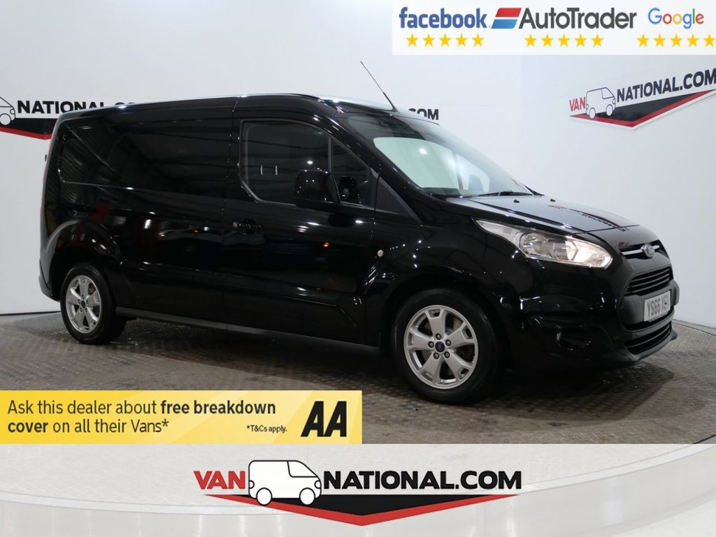 USED 2016 66 FORD TRANSIT CONNECT 1.5 240 LIMITED P/V 120 BHP L2 LWB *AIR CON*EURO 6* * EURO 6 * AIR CON * LWB * ALLOYS * ZERO DEPOSIT FINANCE AVAILABLE *