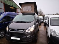 USED 2016 16 FORD TRANSIT CUSTOM 2.2 270 LIMITED Addition LR Camper van with elevated roof 5d 125 BHP NO VAT 2016 16 Ford Transit custom Ltd Campervan pop up roof