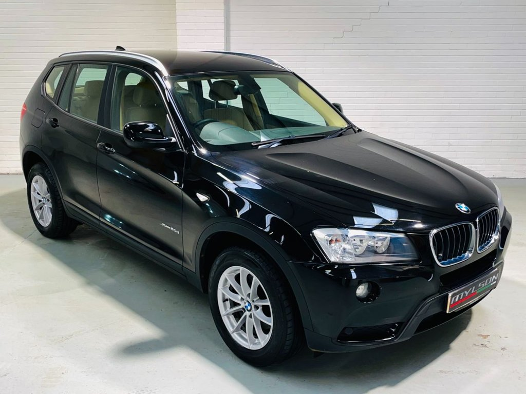 USED 2012 12 BMW X3 2.0 XDRIVE20D SE 5d 181 BHP Auto, Black with Full Cream Leather Interior