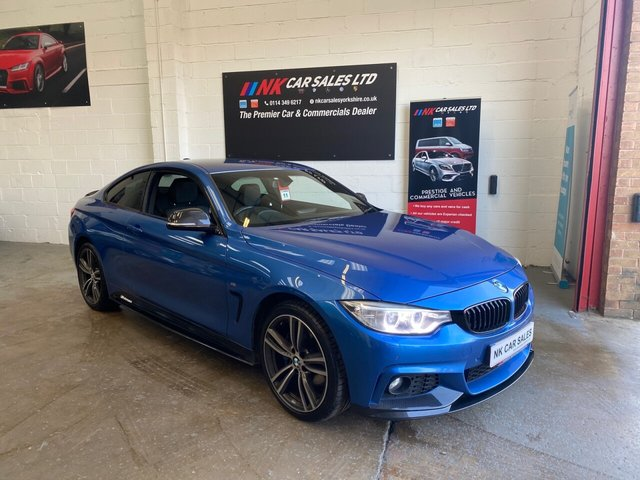 USED 2015 15 BMW 4 SERIES 2.0 420D XDRIVE M SPORT 2d 188 BHP 19 INCH ALL SAT NAV HEATED SEATS HARMON KARDON SOUND
