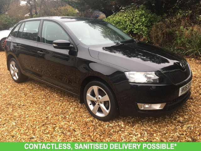 USED 2016 16 SKODA RAPID 1.2 SPACEBACK SE TECH TSI DSG 5d 89 BHP AUTOMATIC LOW MILEAGE FINANCE ME TODAY-USUALLY FREE DELIVERY