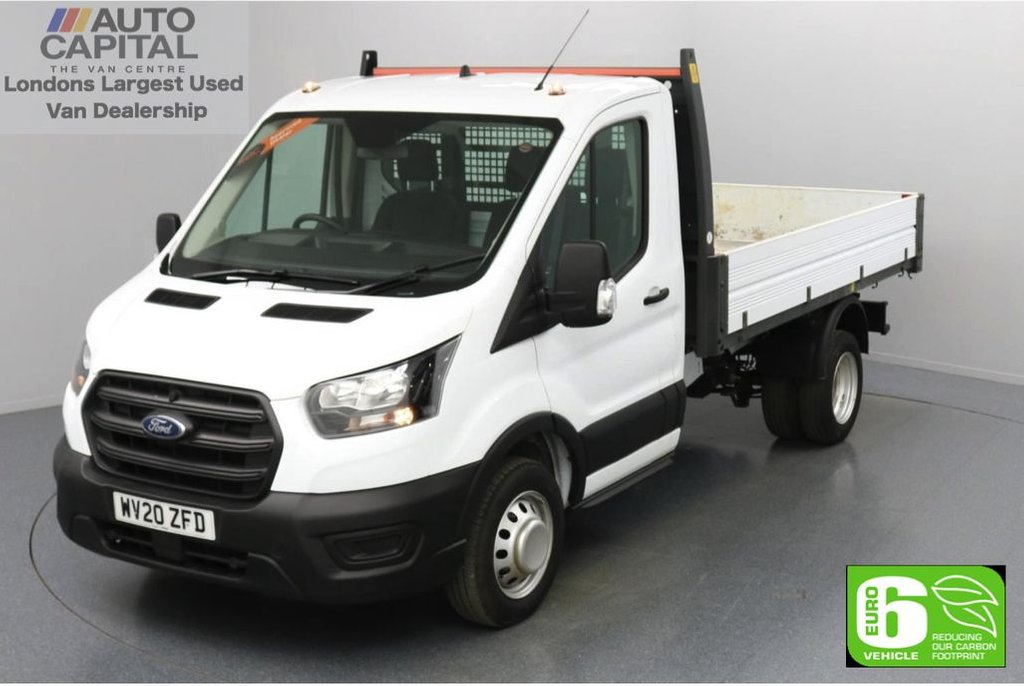 USED 2020 20 FORD TRANSIT 2.0 350 RWD EcoBlue Leader L2 MWB 130 BHP Low Emission Tipper Eco mode | Auto Start-Stop | Twin wheels | RWD