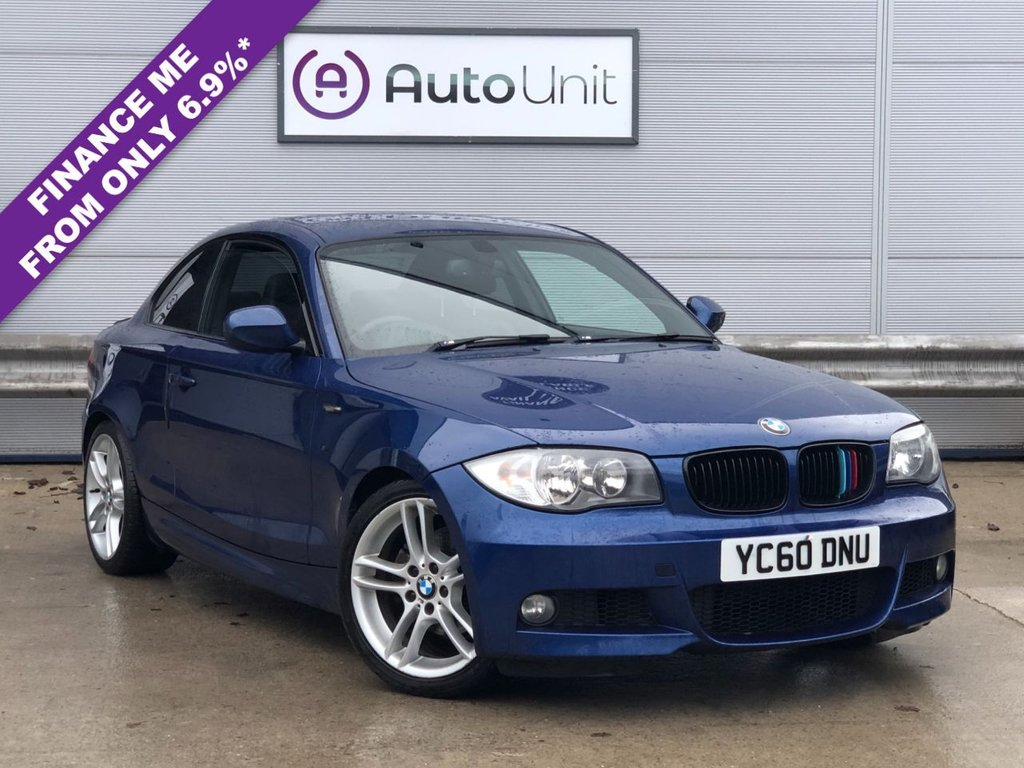 USED 2010 60 BMW 1 SERIES 2.0 118D M SPORT 2d 141 BHP FULL SERVICE HISTORY | FULL LEATHER | FOLDING MIRRORS | UPGRADED ALLOYS | DUAL CLIAMTE | HANDSFREE
