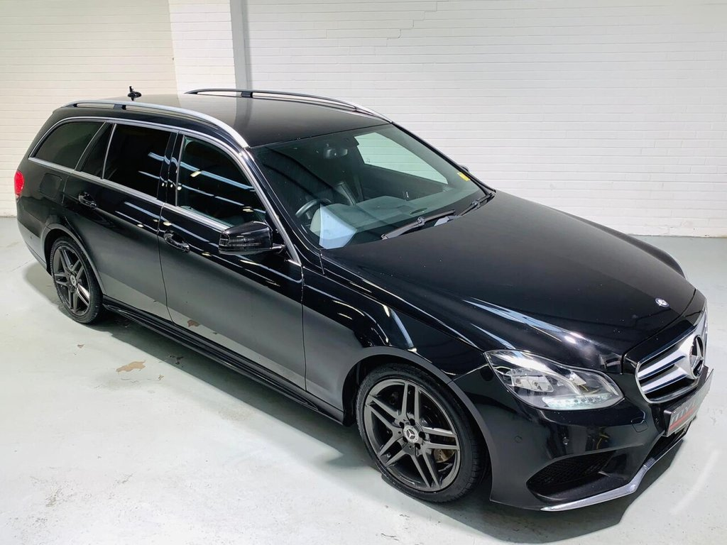 USED 2013 13 MERCEDES-BENZ E-CLASS 3.0 E350 BLUETEC AMG SPORT 5d 249 BHP Facelift AMG Sport Spec E350 Estate, Black Leather, Heated Seats
