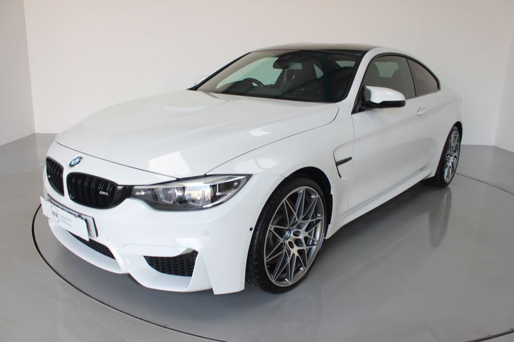 USED 2018 68 BMW M4 3.0 M4 COMPETITION 2d AUTO-LOW MILEAGE EXAMPLE-RUNNING IN SERVICE COMPLETE-HEATED BLACK MERINO LEATHER-BLUETOOTH-CRUISE CONTROL-PROFESSIONAL NAVIGATION-ADAPTIVE LED HEADLIGHTS-20