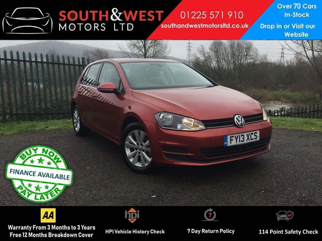 USED 2013 13 VOLKSWAGEN GOLF 2.0 SE TDI BLUEMOTION TECHNOLOGY DSG 5d 148 BHP