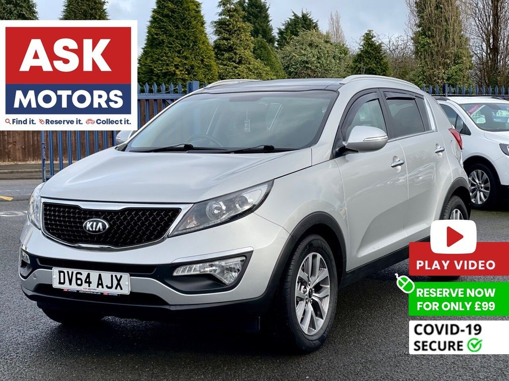 USED 2014 64 KIA SPORTAGE 1.7 CRDI 2 ISG 5d 114 BHP PANORAMIC ROOF