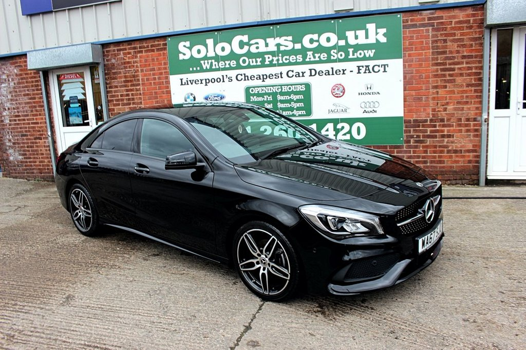 USED 2017 67 MERCEDES-BENZ CLA 1.6 CLA 180 AMG LINE 4d 121 BHP +ONE OWNER +NAV +REVERSE CAM.
