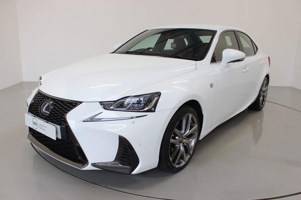USED 2017 17 LEXUS IS 2.5 300H F SPORT 4d 179 BHP-£10 ROAD TAX-HEATED RED LEATHER-BLUETOOTH-CRUISE CONTROL-REAR PARKING SENSORS-DAB RADIO-CLIMATE CONTROL