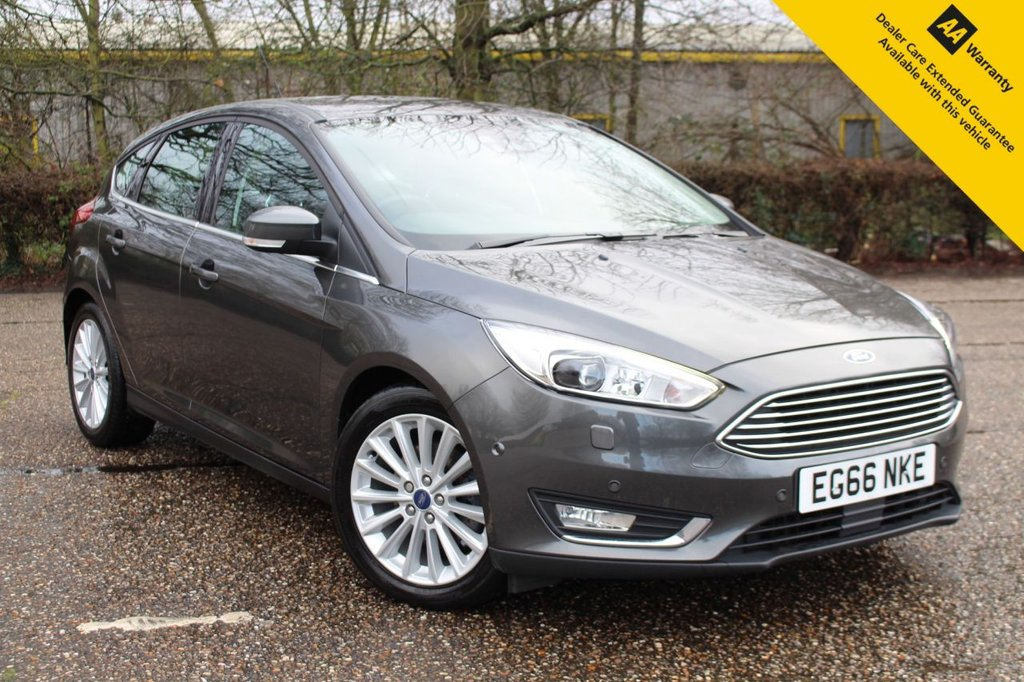USED 2016 66 FORD FOCUS 1.5 TITANIUM X 5d 180 BHP ** 1 OWNER FROM NEW ** RARE 180BHP VERSION ** FULL FORD SERVICE HISTORY ** LONG ADVISORY FREE MOT ** £2K FACTORY OPTIONS ** SAT NAV ** REAR CAMERA ** BLIND SPOT SYSTEM + LANE ASSIST ** FRONT + REAR PARKING AID ** PARK ASSIST - CAR PARKS ITSELF ** HALF LEATHER ** HEATED FRONT SEATS ** ADAPTIVE CRUISE CONTROL + CITY BRAKE ** BLUETOOTH ** CLIMATE CONTROL ** ULEZ CHARGE EXEMPT ** BUY ONLINE IN CONFIDENCE FROM A MULTI AWARD WINNING 5* RATED DEALER ** CLICK & COLLECT + NATIONWIDE DELIVERY AVAILABLE **
