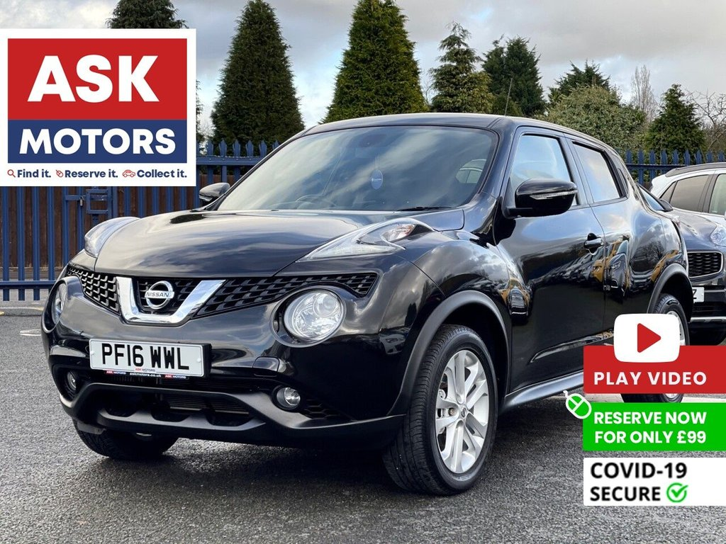 USED 2016 16 NISSAN JUKE 1.2 N-CONNECTA DIG-T 5d 115 BHP SANTAV REVERSE CAMERA USB BLUETOOTH