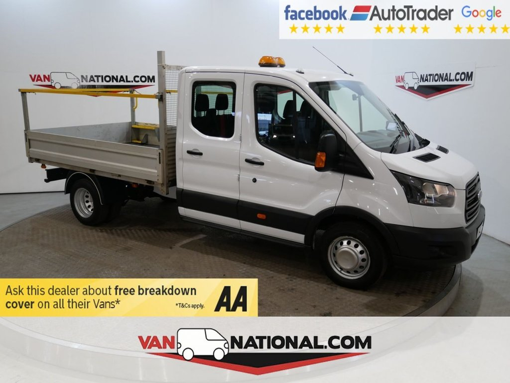USED 2018 67 FORD TRANSIT 2.0 350 L3 DCB DRW 130 BHP RWD DROPSIDE *DOUBLE CAB*EURO 6*TWIN REAR WHEEL* * EURO 6 * 7 SEATS * TWIN WHEEL * ZERO DEPOSIT FINANCE AVAILABLE *