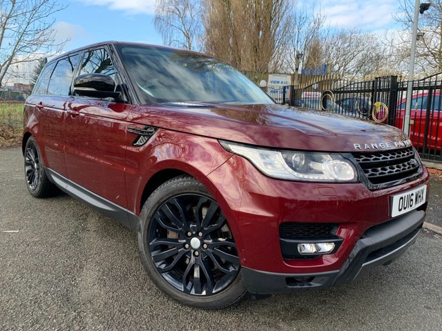 "USED 2016 16 LAND ROVER RANGE ROVER SPORT 3.0 SDV6 HSE DYNAMIC 5d 306 BHP 2 KEYS+TOP SPEC+1 FORMER+MEDIA+LEATHER TRIM+PARKING SENSORS+CRUISE+PRIVACY GLASS+CLIMATE+NAVIGATION SYSTEM+21""ALLOYS+CAMERA+USB+AUX+DAB+"