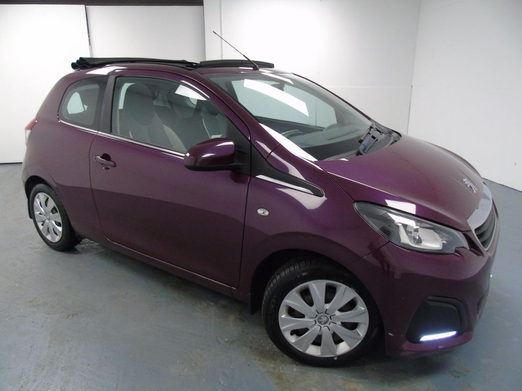 USED 2015 PEUGEOT 108 1.0 ACTIVE TOP 3d 68 BHP £100 a month, T&Cs apply.