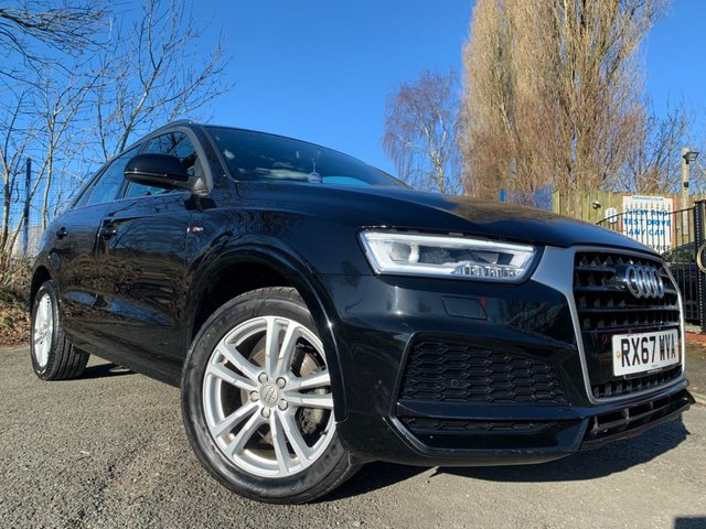 "USED 2017 67 AUDI Q3 1.4 TFSI S LINE EDITION 5d 148 BHP FACELIFT MODEL 2 KEYS+1 OWNER+NAVIGATION & SD+CLIMATE+PARKING SENSORS+18""ALLOYS+HALF LEATHER TRIM+MEDIA+BLUETOOTH+"