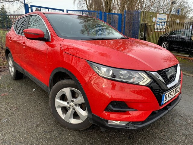 USED 2017 67 NISSAN QASHQAI 1.5 DCI ACENTA 5d SMART+TECH+VISION PACK 2 KEYS+1 OWNER FROM NEW+FSH+NEWER SHAPE, FACE LIFT MODEL+CRUISE+CLIMATE+PRIVACY GLASS+PARKING SENSORS+CAMERA+NAVIGATION+SMART VISION PACK+TECH PACK+BLUETOOTH+USB+AUX+