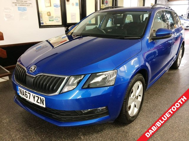 USED 2018 67 SKODA OCTAVIA 1.4 SE TECHNOLOGY TSI 5d 148 BHP This new shape Octavia petrol Estate is finished in Metallic Race Blue with Cloth seats. It is fitted with Tech pack including navigation, remote locking, electric windows and mirrors, dual zone climate control, ACC cruise control, LED Day lights, front /rear parking sensors, roof rails, alloy wheels, full size spare wheel, rubber boot mat, 3 keys, SD Card with USB and more. It has had one owner from new. It comes with a full and comprehensive service history consisting of an itemized printout.