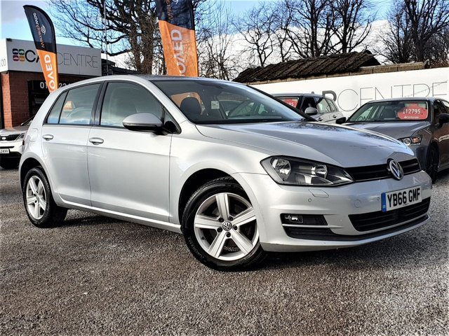 USED 2016 66 VOLKSWAGEN GOLF 1.6 MATCH EDITION TDI BMT 5d 109 BHP 1 OWNER + FULL SERVICE