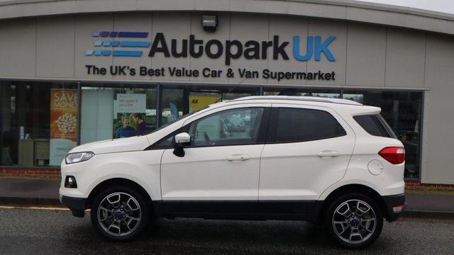 USED 2015 65 FORD ECOSPORT 1.0 TITANIUM 5d 124 BHP . LOW DEPOSIT OR NO DEPOSIT FINANCE AVAILABLE . COMES USABILITY INSPECTED WITH 30 DAYS USABILITY WARRANTY + LOW COST 12 MONTHS ESSENTIALS WARRANTY AVAILABLE FROM ONLY £199 (VANS AND 4X4 £299) DETAILS ON REQUEST. ALWAYS DRIVING DOWN PRICES . BUY WITH CONFIDENCE . OVER 1000 GENUINE GREAT REVIEWS OVER ALL PLATFORMS FROM GOOD HONEST CUSTOMERS YOU CAN TRUST .