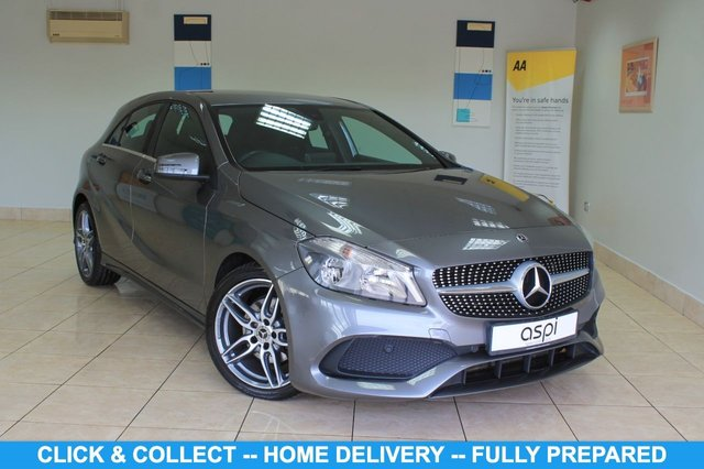 "USED 2017 67 MERCEDES-BENZ A-CLASS 1.6 A 200 AMG LINE 5d 154 BHP BLACK ANTHRACITE LEATHER, SATELLITE NAVIGATION, AIR CONDITIONING, SMARTPHONE INTEGRATION PACKAGE, REAR VIEW CAMERA, RAIN SENSOR, ATTENTION ASSIST, 18"" AMG DOUBLE SPOKE ALLOYS, AMG STYLING PK, KEYLESS, AMG SPORTS PACK, SEAT COMFORT PK, AUTO DIM INTERIOR MIRROR, PADDLE SHIFT, DRIVE SELECT, REVERSE CAMERA, MEDIA INTERFACE, SD PORT, BLUETOOTH, CRUISE CONTROL, MULTI FUNCTION STEERING WHEEL, ONE OWNER"