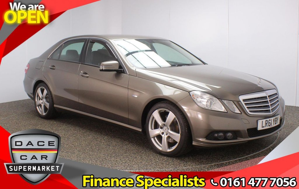 USED 2011 61 MERCEDES-BENZ E-CLASS 2.1 E200 CDI BLUEEFFICIENCY SE EDITION 125 4DR AUTO 136 BHP SERVICE HISTORY + HEATED LEATHER SEATS + SATELLITE NAVIGATION + PARKING SENSOR + MULTI FUNCTION WHEEL + CLIMATE CONTROL + XENON HEADLIGHTS + ELECTRIC FRONT SEATS + ELECTRIC WINDOWS + ELECTRIC DOOR MIRRORS + 18 INCH ALLOY WHEELS