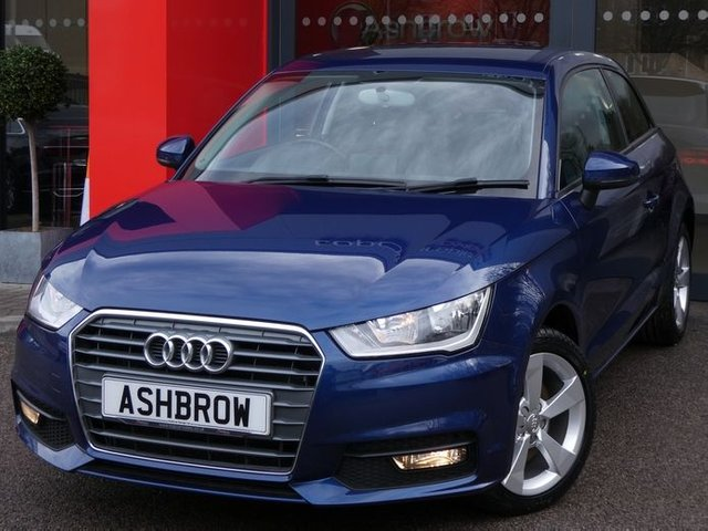 USED 2017 67 AUDI A1 1.6 TDI SPORT 3d 115 S/S FULL SERVICE HISTORY, 1 OWNER FROM NEW, UPGRADE REAR ACOUSTIC PARKING SENSORS, UPGRADE CRUISE CONTROL, UPGRADE METALLIC SCUBA BLUE, DAB RADIO, BLUETOOTH PHONE & MUSIC STREAMING, AUDI MUSIC INTERFACE (AMI), FRONT FOG LIGHTS, 16 INCH 5 SPOKE ALLOYS, GREY TORNADO CLOTH INTERIOR, SPORT SEATS, LEATHER MULTIFUNCTION STEERING WHEEL, AUDI DRIVE SELECT, AIR CONDITIONING, CD & SD CARD READER, TYRE PRESSURE MONITORING SYSTEM, ELECTRIC WINDOWS, ELECTRIC HEATED DOOR MIRRORS, ISO FIX, FOLDING REAR SEATS, VATQ