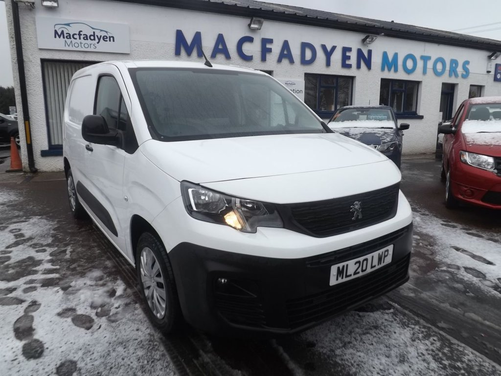 USED 2020 20 PEUGEOT PARTNER 1.5 BLUEHDI PROFESSIONAL L1 101 BHP