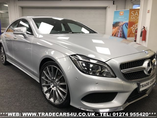 USED 2016 16 MERCEDES-BENZ CLS CLASS MERCEDES CLS350d EURO 6 AMG LINE PREMIUM 9G-TRONIC PLUS COUPE 4 DR FREE UK DELIVERY*VIDEO AVAILABLE* FINANCE ARRANGED* PART EX*HPI CLEAR
