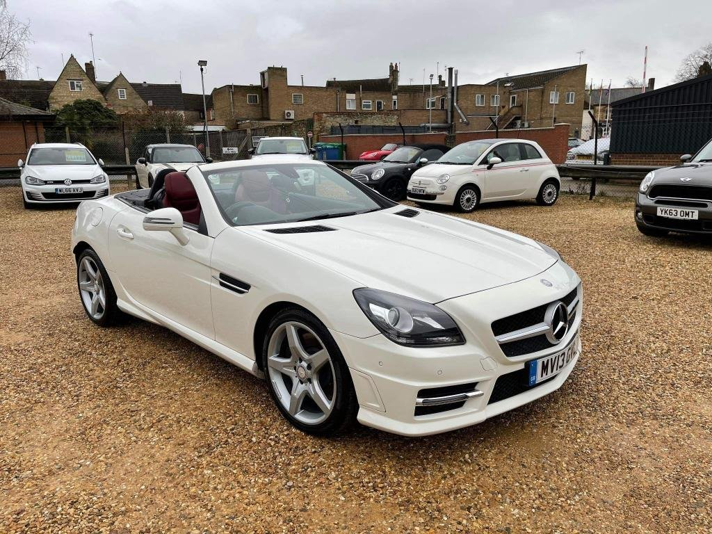 USED 2013 13 MERCEDES-BENZ SLK 2.1 SLK250 CDI BlueEFFICIENCY AMG Sport 7G-Tronic Plus (s/s) 2dr Full Red Leather & New Tyres