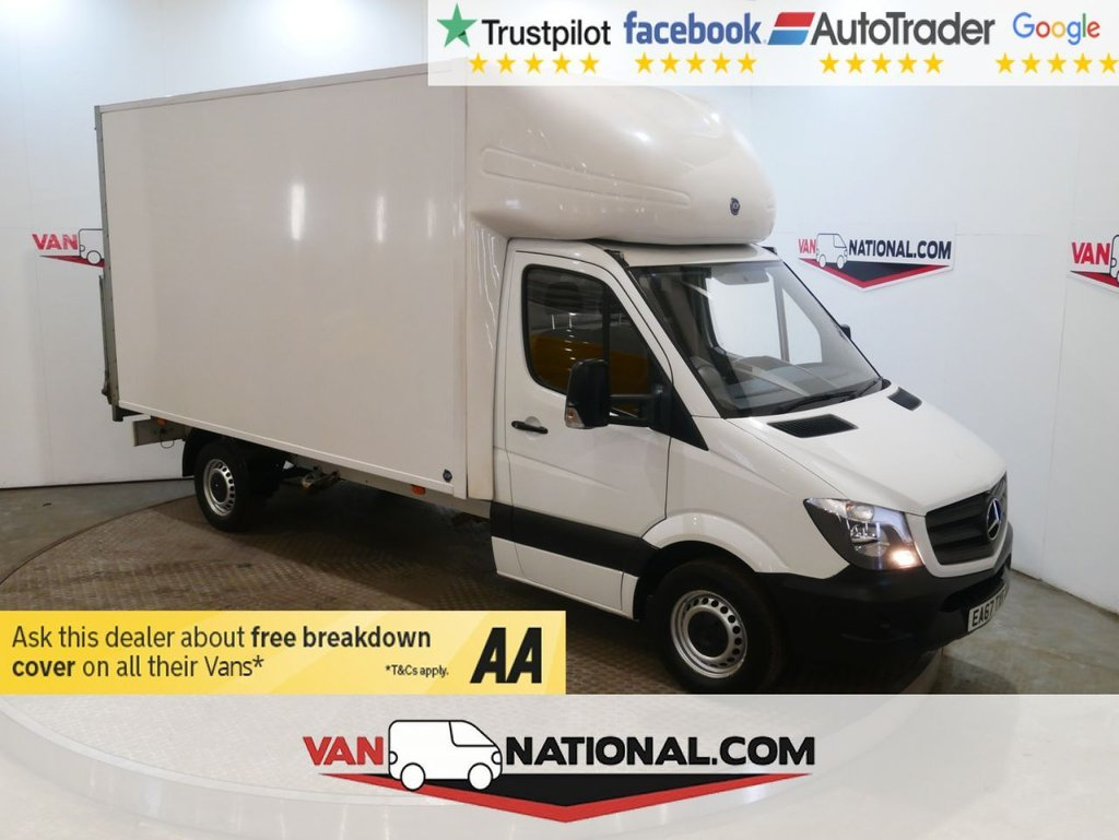 USED 2017 67 MERCEDES-BENZ SPRINTER 2.1 314CDI 140 BHP LUTON WITH TAIL LIFT * EURO 6 * TAIL LIFT * BLUETOOTH *