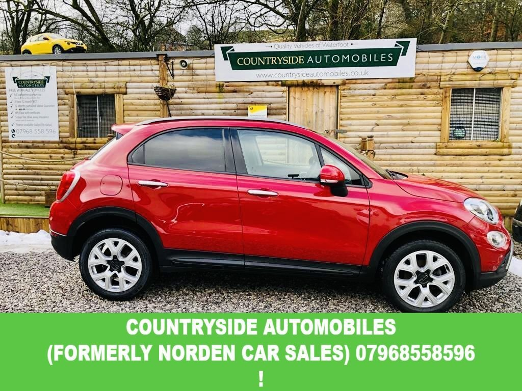 USED 2015 65 FIAT 500X 1.6 MULTIJET CROSS 5d 120 BHP Here we have a stunning example of the very spacious 500 X, Finished in Amore red with contrasting black half leather interior, With embossed 500 logo.Multi function wheel with bluetooth, voice, and cruise control and speed limiter. Bluetooth, Dual zone climate control. Auto lights.17 inch upgraded Alloy wheels. This car has only had 1 previous owner and comes with full book pack, 2 keys and a full stamped service history (6 STAMPS ) And to top it off only £20 to tax and combined MPG of 68.9.