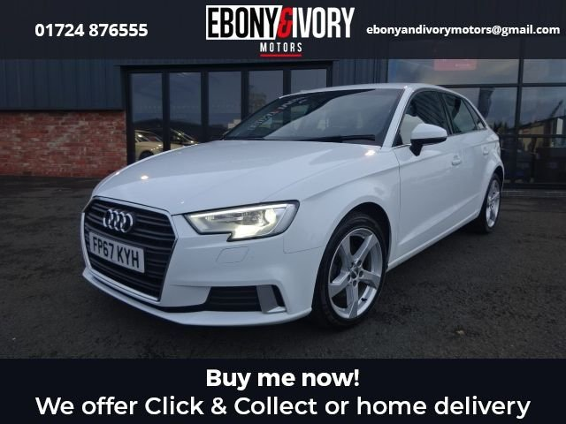 USED 2017 67 AUDI A3 2.0 TDI SPORT 5d 148 BHP + FULL SERVICE HISTORY + 1 YEAR MOT AND BREAKDOWN COVER