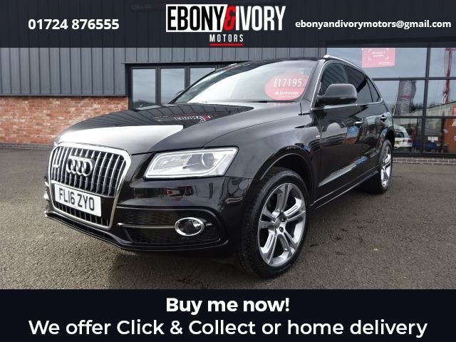 USED 2016 16 AUDI Q5 2.0 TDI QUATTRO S LINE PLUS 5d 187 BHP+3-SPK MUFU FLAT BOTTOM PADDLES+HEATED FRONT SEATS+HIGH GLOSS PACKAGE+FINE NAPPA LEATHER+TECHNOLOGY PACK FULL AUDI SERVICE HISTORY + 1 YEAR MOT AND BREAKDOWN COVER