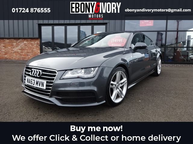 USED 2013 63 AUDI A7 3.0 TDI QUATTRO S LINE 5d 245 BHP+ SPORTS SUSPENSION+3-SPK LEATHER PADDLES+ELEC/FOLD/HEAT/MEMORY MIRRORS+VALCONA LEATHER FULL AUDI SERVICE HISTORY + 1 YEAR MOT AND BREAKDOWN COVER