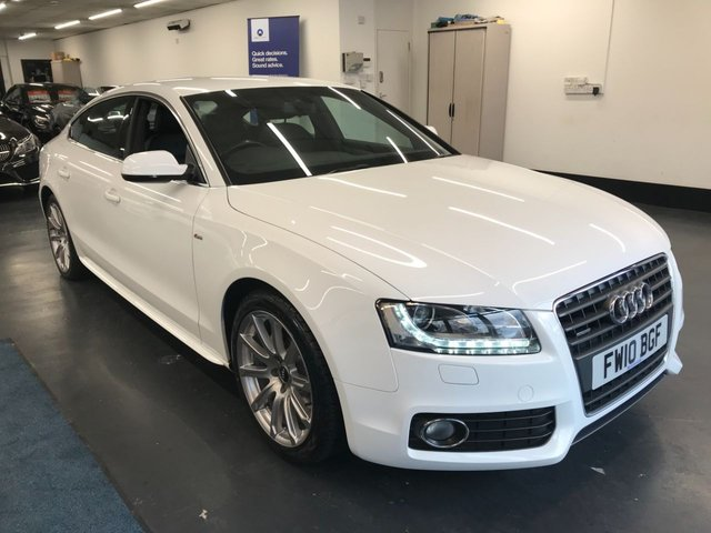 USED 2010 10 AUDI A5 2.0 SPORTBACK TFSI QUATTRO S LINE 5d 208 BHP Parking Sensors / 4-way lumber support / Leather seats / Heated wing mirrors / Folding wing mirrors / Climate control