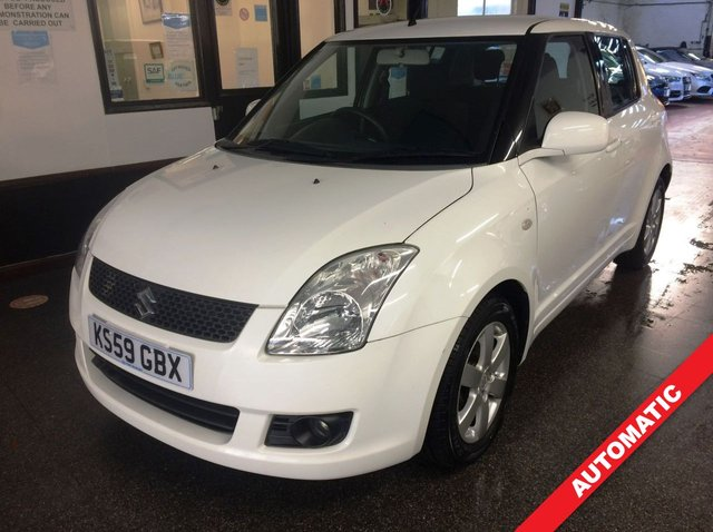 """USED 2010 59 SUZUKI SWIFT 1.5 SZ4 5d 102 BHP This Suzuki Swift is finished in White with Black cloth seats. It is fitted with power steering, remote locking, electric windows and mirrors, climate controlled air conditioning, keyless entry/remote locking, 15"""" alloy wheels, CD Radio, space saver, isofix seats and more. It has had two owners, one private gentleman since 2013 and comes with a full Suzuki and independent service history consisting of invoices & stamps. It has a June 2021 MOT. It will be supplied with a service & warranty."""