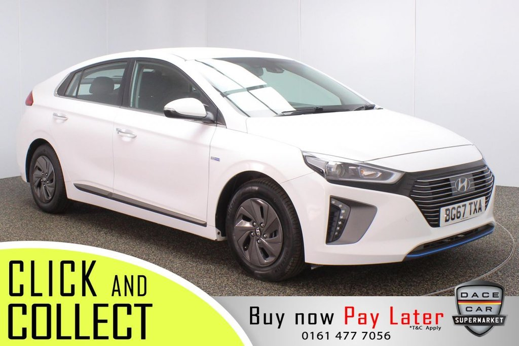 USED 2017 67 HYUNDAI IONIQ 1.6 PREMIUM 5DR 1 OWNER AUTO +  REAR CAMERA HEATED FRONT SEATS + REVERSING CAMERA + LANE ASSIST SYSTEM + INFINITY PREMIUM SPEAKERS + HEATED STEERING WHEEL + PARKING SENSOR + BLUETOOTH + CRUISE CONTROL + CLIMATE CONTROL + MULTI FUNCTION WHEEL + XENON HEADLIGHTS + DAB RADIO + AUX/USB PORTS + ELECTRIC WINDOWS + ELECTRIC/HEATED/FOLDING DOOR MIRRORS + 15 INCH ALLOY WHEELS