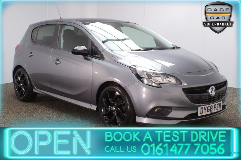 USED 2018 68 VAUXHALL CORSA 1.4 SRI VX-LINE NAV BLACK 5DR 1 OWBER 89 BHP FULL SERVICE HISTORY + SATELLITE NAVIGATION + BLUETOOTH + CRUISE CONTROL + MULTI FUNCTION WHEEL + AIR CONDITIONING + PRIVACY GLASS + DAB RADIO + USB PORT + ELECTRIC WINDOWS + ELECTRIC DOOR MIRRORS + 17 INCH ALLOY WHEELS