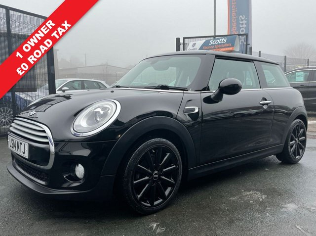 USED 2014 14 MINI HATCH COOPER 1.5 COOPER D 3d ZERO TAX BLACK DIESEL DAB RADIO BLUETOOTH
