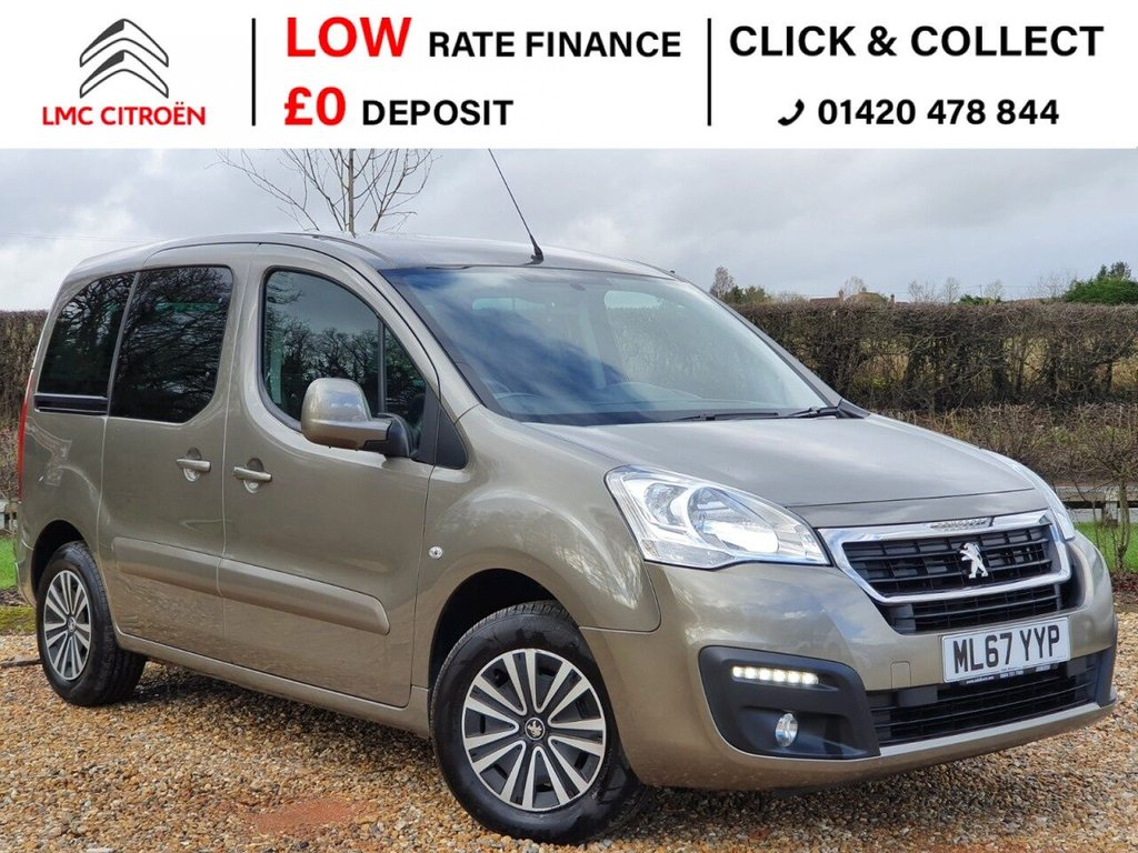 USED 2017 67 PEUGEOT PARTNER 1.6 BLUE HDI TEPEE ACTIVE 5d 100 BHP ***AUTOMATIC, BLUETOOTH***