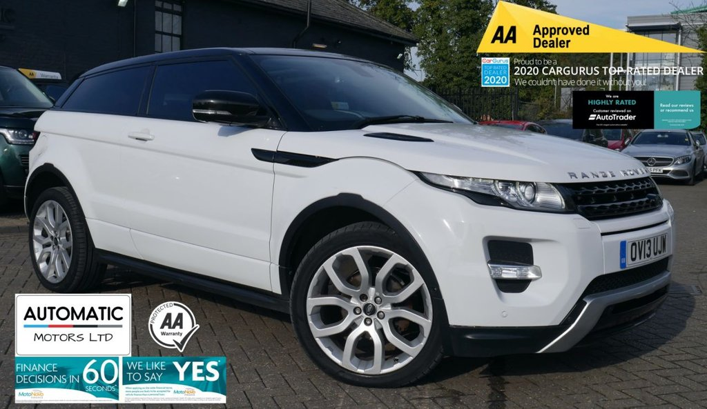 USED 2013 13 LAND ROVER RANGE ROVER EVOQUE 2.2 SD4 DYNAMIC LUX 3d 190 BHP 2013 LAND ROVER RANGE ROVER EVOQUE 2.2 SD4 DYNAMIC LUX 3d 190 BHP 2 KEYS NAVIGATION BLUETOOTH
