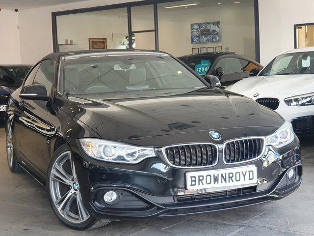 """USED 2014 64 BMW 4 SERIES 2.0 420D SPORT 2d 181 BHP SAT NAV+LTHR+19"""" ALLOYS+FSH"""