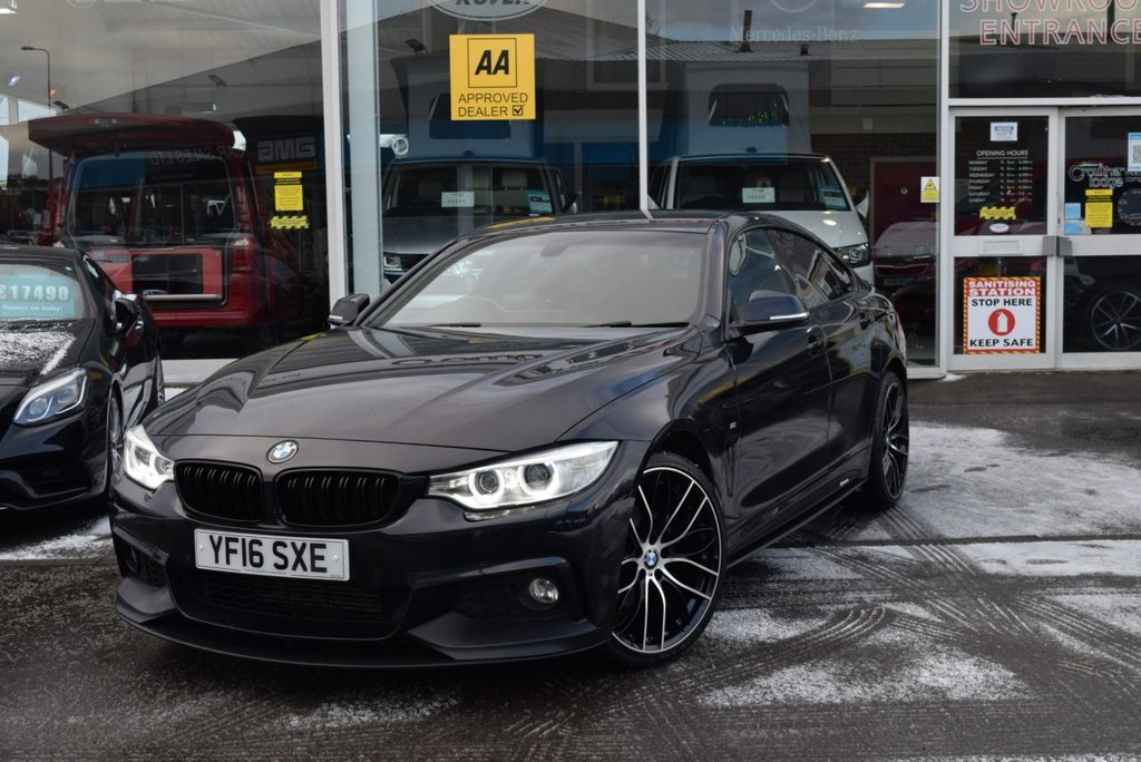 USED 2016 16 BMW 4 SERIES 2.0 420D XDRIVE M SPORT GRAN COUPE 4d 188 BHP FINANCE TODAY WITH NO DEPOSIT - SERVICE HISTORY