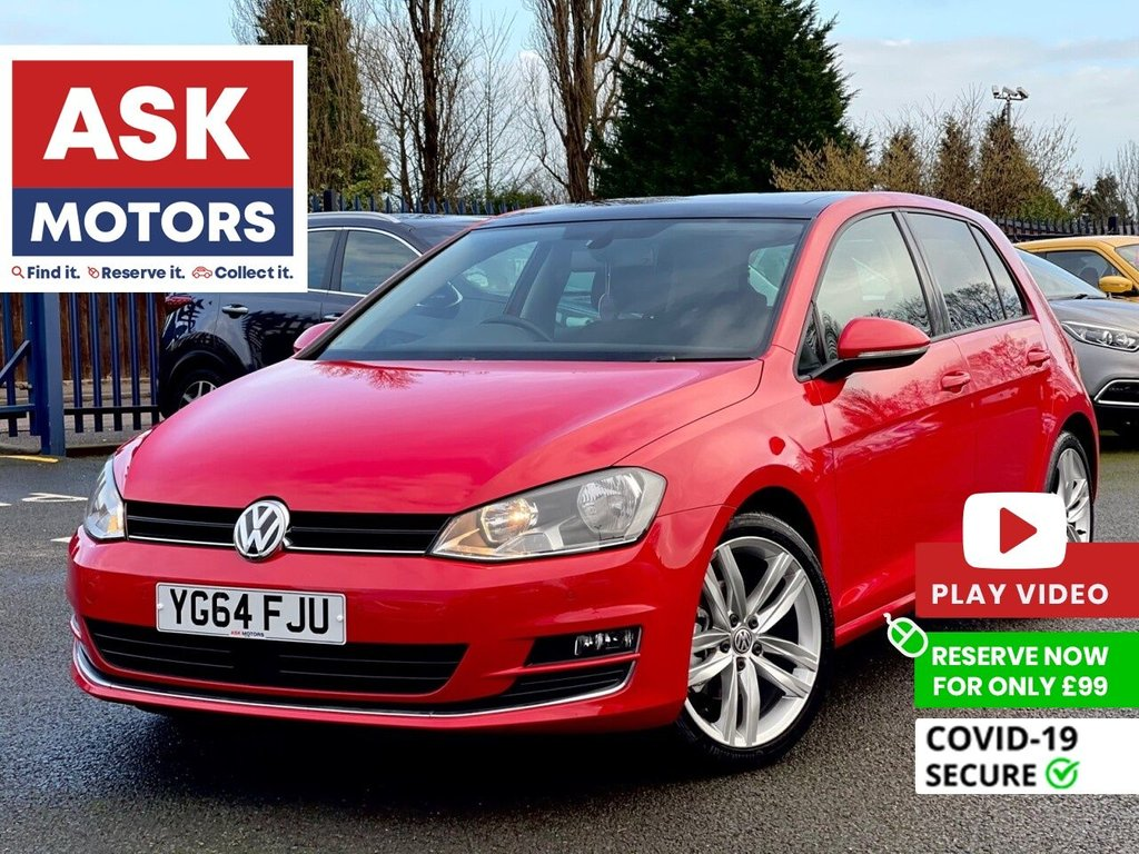 USED 2014 64 VOLKSWAGEN GOLF 1.4 GT TSI ACT BLUEMOTION TECHNOLOGY 5d 148 BHP