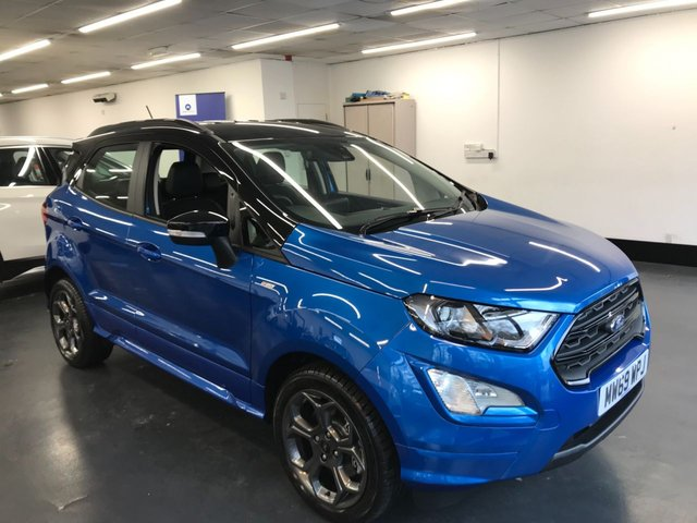USED 2020 69 FORD ECOSPORT 1.0 ST-LINE 5d 124 BHP 1 OWNER, TOUCHSCREEN SATNAV, REAR CAMERA & REAR PARKING SENSORS, BLUETOOTH PHONE AND AUDIO