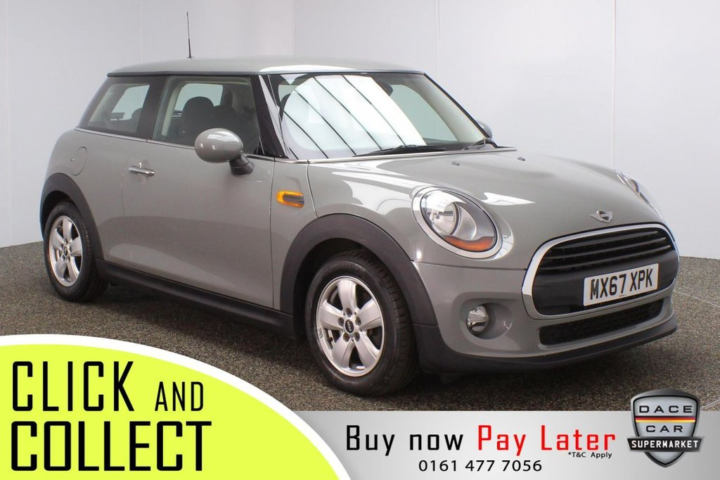 USED 2017 67 MINI HATCH ONE 1.2 ONE PEPPER PACK 3DR 101 BHP + 1 ONWER  FULL SERVICE HISTORY + BLUETOOTH + CLIMATE CONTROL + DAB RADIO + ELECTRIC WINDOWS + ELECTRIC/HEATED DOOR MIRRORS + ALLOY WHEELS