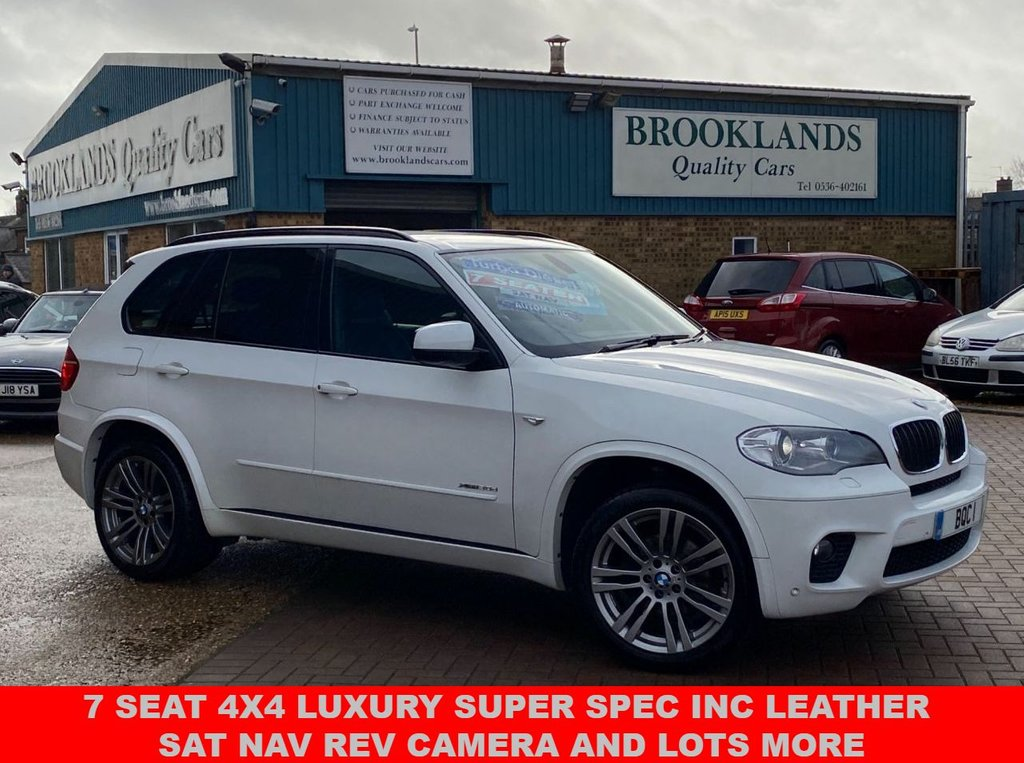 USED 2012 62 BMW X5 3.0 XDRIVE30D M SPORT 7 SEATER Alpine White 241 BHP 7 Seat 4x4 Luxury Super Spec inc Leather SAT NAV And Lots More