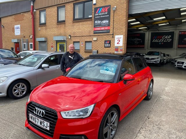2017 67 AUDI A1 1.6L SPORTBACK TDI BLACK EDITION 5d 114 BHP A RARE PAN ROOF MODEL FSH RESERVED FOR PAUL FROM SHEFFIELD